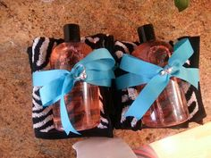 bridal shower game prizes- bubbly themed shower- cute bridal shower ideas- How to and links for where to buy at simple/fancy/fun!