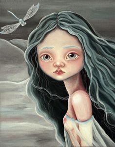 Princesa de las nieves.Técnica: Acrílico sobre lienzo.