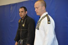 Gustavo Machado and Rob Pendergrass overseeing a group at a recent Brazilian Jiu Jitsu seminar hosted at Pendergrass Academy of Martial Arts (Wake Forest, NC).