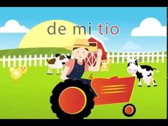 Granja de mi Tio - Spanish Songs for kids with lyrics Canciones en español para niños Miss Rosi - YouTube--uses 'ito/s' in every animal description, so use after animals have been introduced