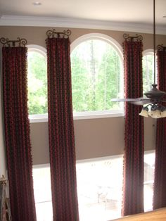 1000 images about tall window treatments on pinterest for 2 story window treatments