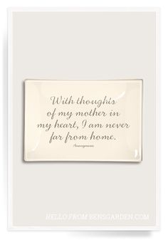 With Thoughts Of My Mother Découpage Glass Tray