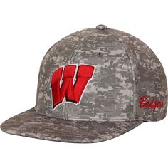innovative design b71dc d86df Wisconsin Badgers Top of the World Digital Snapback Adjustable Hat - Camo,  Sale   17.99