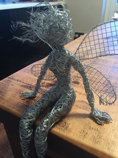Wire sculpture fairy figure pixy elf for your home by KisMetDal