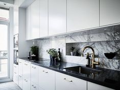 Beautiful marble kitchen