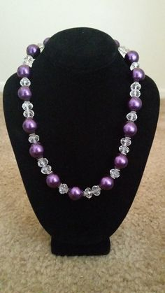 Purple pearl necklace on Etsy, $18.00