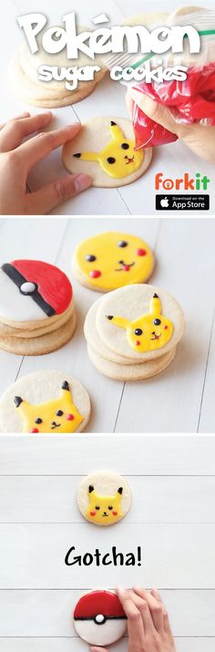 Take the classic iced sugar cookie to the next level with Pikachu. Learn how to make your favorite Pokémon characters out of icing and fuel your next Pokémon hunt with soft, buttery cookies. Gotta eat em' all!