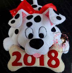 Купить Далматинец - символ 2018 года - символ 2018 года, собака, щенок, собака из фетра