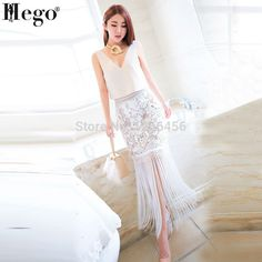 Aliexpress.com : Buy HEGO 2015 Women Hot New Pencil Tassel Spring Skirt Lace Print White With Factory Direct MX168 from Reliable print 3d suppliers on Guang Zhou TianYi Trade Co.,Ltd. | Alibaba Group