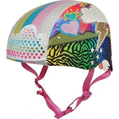 Raskullz Girls' Sparklez Loud Cloud Youth Bike Helmet Multi 03 - Bicycle Accessories at Academy Sports Skateboard Helmet, Bicycle Helmet, Bike Helmets, Used Bikes, Rainbow Print, Girls Dream, Gifts For Teens, Fabric Covered, Cycling
