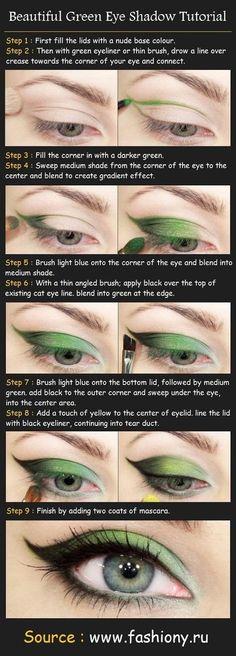 Green eye makeup for green eyes