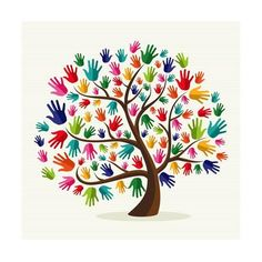 Clipart of Colorful solidarity hand tree - Search Clip Art, Illustration Murals, Drawings and Vector EPS Graphics Images - Hand Illustration, Hand Print Tree, Unity In Diversity, Cultural Diversity, Hispanic Heritage Month, Mothers Day Crafts, Art Plastique, Tree Art, Oeuvre D'art