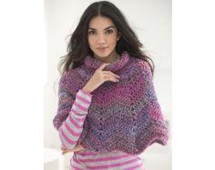Softly Rippled Poncho (Crochet)