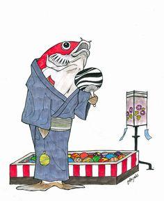#illustration #artist #art #drawing #artwork #animal #fish #japan #sketch #イラスト #アート