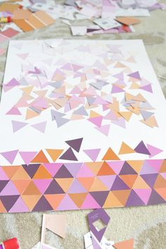 Ombre Paint Chip Art : DURING