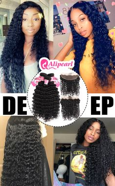 Human Hair Weaves Hair Extensions & Wigs Alipearl Hair 4 Bundles With Closure Brazilian Water Wave Bundles With Lace Closure Baby Hair 5 Pcs Lots Remy Hair Extensions Be Friendly In Use