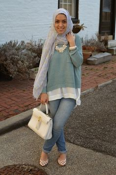 Change the style of the hijab to cover the front part then it will be my style....