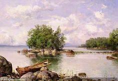 """Summer day in the countryside"""" By Hjalmar Munsterhjelm (Finnish 1840-1905) - Google Search Oil Paintings, Landscape Paintings, Landscapes, Beauty In Art, Sea Art, Baltic Sea, Famous Artists, Vintage Pictures, Margarita"""