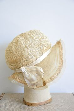 0b6945ea72d lace hat..vintage  wish I had this one for my daughters wedding!