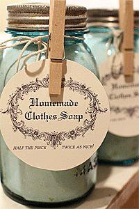 Homemade Laundry Detergent | Great Oak Circle, blog design, logo and print design, DIY blog - anti allergy?