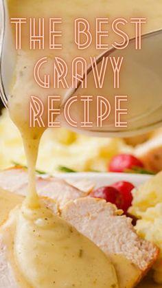 Turkey Recipes, Vegetarian Recipes, Grandma's Recipes, Cooking Recipes, Best Gravy Recipe, Thanksgiving Recipes, Holiday Recipes, Oven Roasted Turkey, Dish