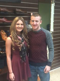 Local Belfast Boxer, Commonwealth Gold medalist and Olympic Bronze medalist, Paddy Barnes dropped in for a pair of shoes, pictured here with sales assistant, Gemma. Commonwealth, Belfast, Celebrity Pictures, Boxer, Robin, Bronze, Pairs, Celebrities, Gold