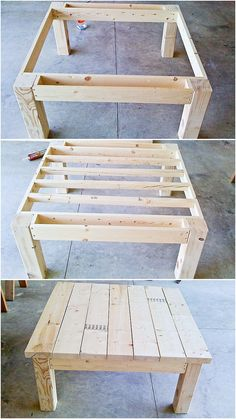 Table from pallet wood Interesting apron design