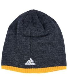 adidas Pittsburgh Penguins Heather Beanie - Charcoal/Gold Adjustable