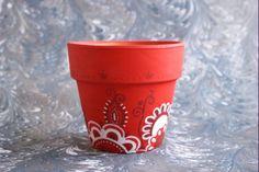 Decorar las macetas para Navidad - http://www.jardineriaon.com/decorar-las-macetas-para-navidad.html