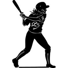 fast pitch softball silhouettes vector art pitch and art rh pinterest com