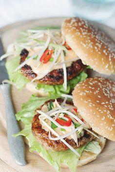 Jamaican-Style Chicken Burger | Kayotic Kitchen