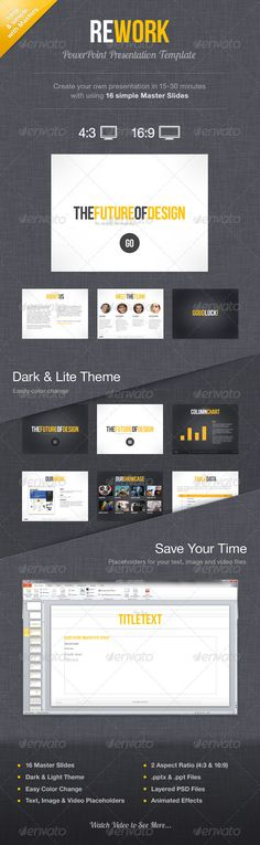 Rework PowerPoint Presentation Template - GraphicRiver Item for Sale
