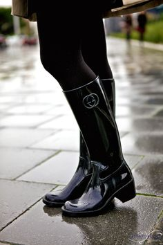 HunterChic by Marta: Gucci boots Gucci Boots, Hunter Wellies, Wellies Rain Boots, Warm Boots, Winter Boots, Rubber Shoes, Rubber Rain Boots, Bootie Boots, Slippers