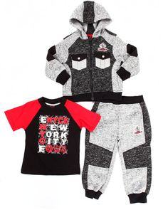 Enyce - 3 PC HOODY & JOGGERS SET (2T-4T)