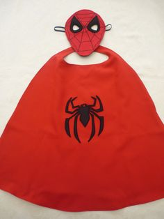 Spider cape and mask set for dressing by MummyHughesy on Etsy