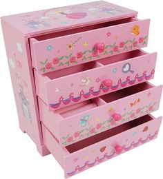 """Looks great for MAP Dolls~ Gunther Mele - Bree - Pretty Pink Painted Jewellery Box - Gunther Mele - Toys""""R""""Us Kids Jewelry Box, Cheap Jewelry, Jewellery Storage, Jewellery Box, Toys R Us Canada, Wood Boxes, Pretty In Pink, Toy Chest, Storage Chest"""