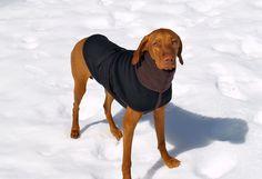 Black Fleece dog coat dog vest for 40-50lb by CarnivalHillShop