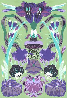 """May Green 1"" 2013. Petra Börner, Swedish illustrator and paper-cut artist. Personal artwork adapted from an editorial piece originally created for Gardens Illustrated. http://www.hugoandmarie.com/artists/petra-borner"
