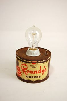 Roundy's Coffee Tin Lamp