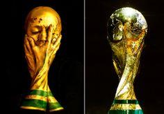 El trofeo del Mundial cobra vida en el rostro de una artista inglesa. Mira la impactante transformación