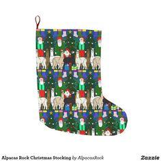 Alpacas Rock Christmas Stocking Large Christmas Stocking