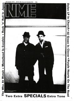 The Specials: Lynval Golding and Neville Staple, photo by Pennie Smith cover of NME 1979