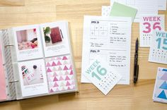 Nina is a paper nerd. | How I'm doing Project Life in 2015 | Free Page Planner Printable | http://www.ninachristensen.dk