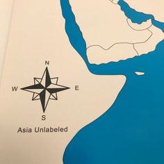 These unlabeled maps are used by children to learn all the different states in Asia they use sensorial excercies for this. World Geography, Kids House, Asia, Knowledge, Map, Activities, Learning, Location Map, Studying