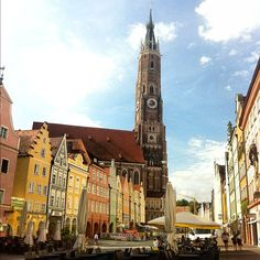 Landshut in Bayern Rimini Italy, Motorcycle Travel, Bavaria, Homeland, Beautiful Landscapes, Trips, Germany, Memories, Country