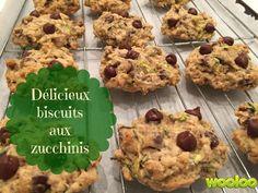 Le zucchini s'ajoute facilement dans vos recettes de pain et de muffins. Mais voici notre délicieuse recette de biscuits aux zucchinis! Zucchini Chocolate Chip Cookies, Desserts With Biscuits, Lunch To Go, Biscuit Cookies, Desert Recipes, Fun Desserts, Vegetable Recipes, Wine Recipes, Surplus