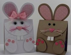 Handmade Bunny Cards with Punch Art - Too Cute! Easter Projects, Craft Projects, Spring Crafts, Holiday Crafts, Easter Treats, Easter Bunny, Happy Easter, Easter Card, Homemade Cards