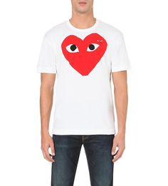 COMME DES GARCONS PLAY - Play heart logo cotton t-shirt | Selfridges.com