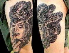 short sleeve tattoos medusa - Google Search