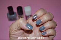 miouprincess loves pink!: Mani(c) Monday: grey with pink glitter by H&M
